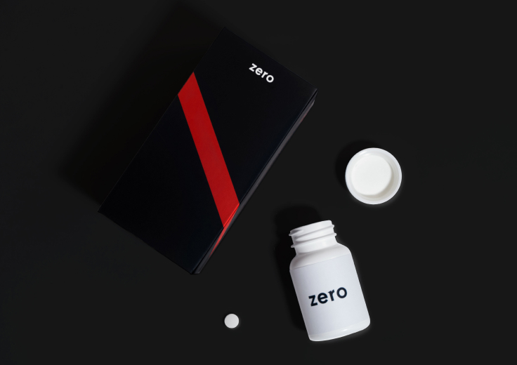 Zero-branded pill bottle and packaging.